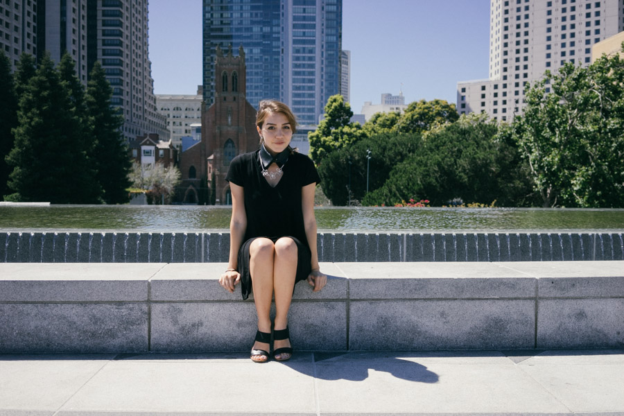 Wearing all black featuring the Neat Collar and Merino Sandals / www.MarinaSays.com