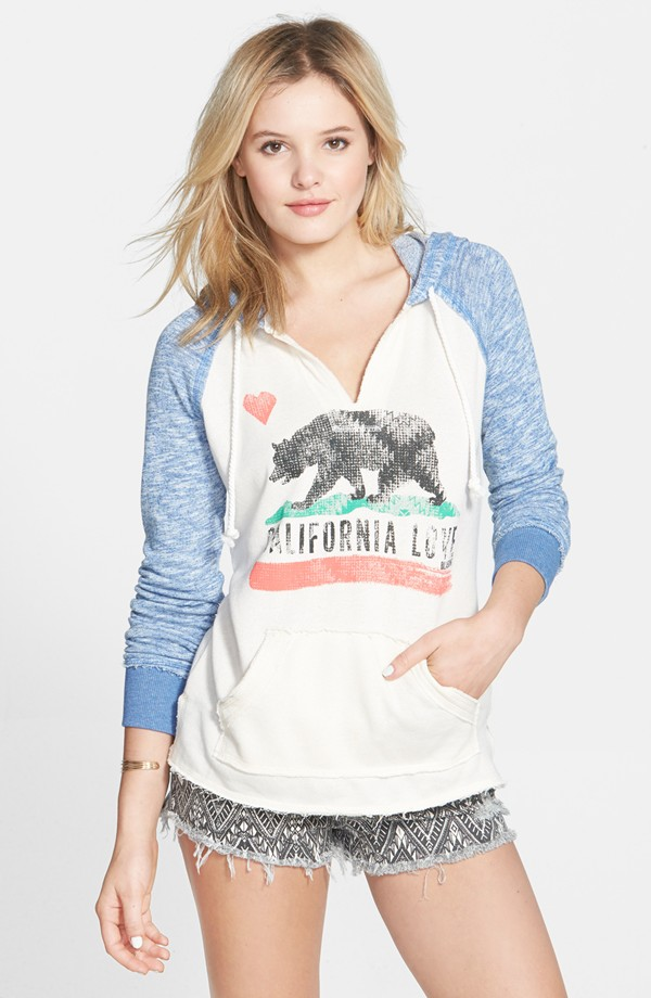 Baby blue and cream Cali hoodie by Billabong, now on sale for $30 at Nordstrom