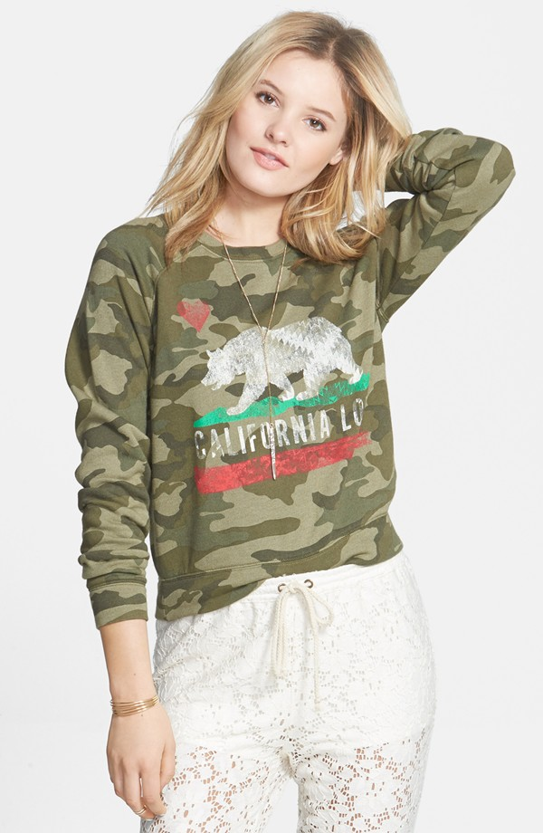 Billabong Rebel Gympsy Sweatshirt in Camo, at Nordstrom for $45