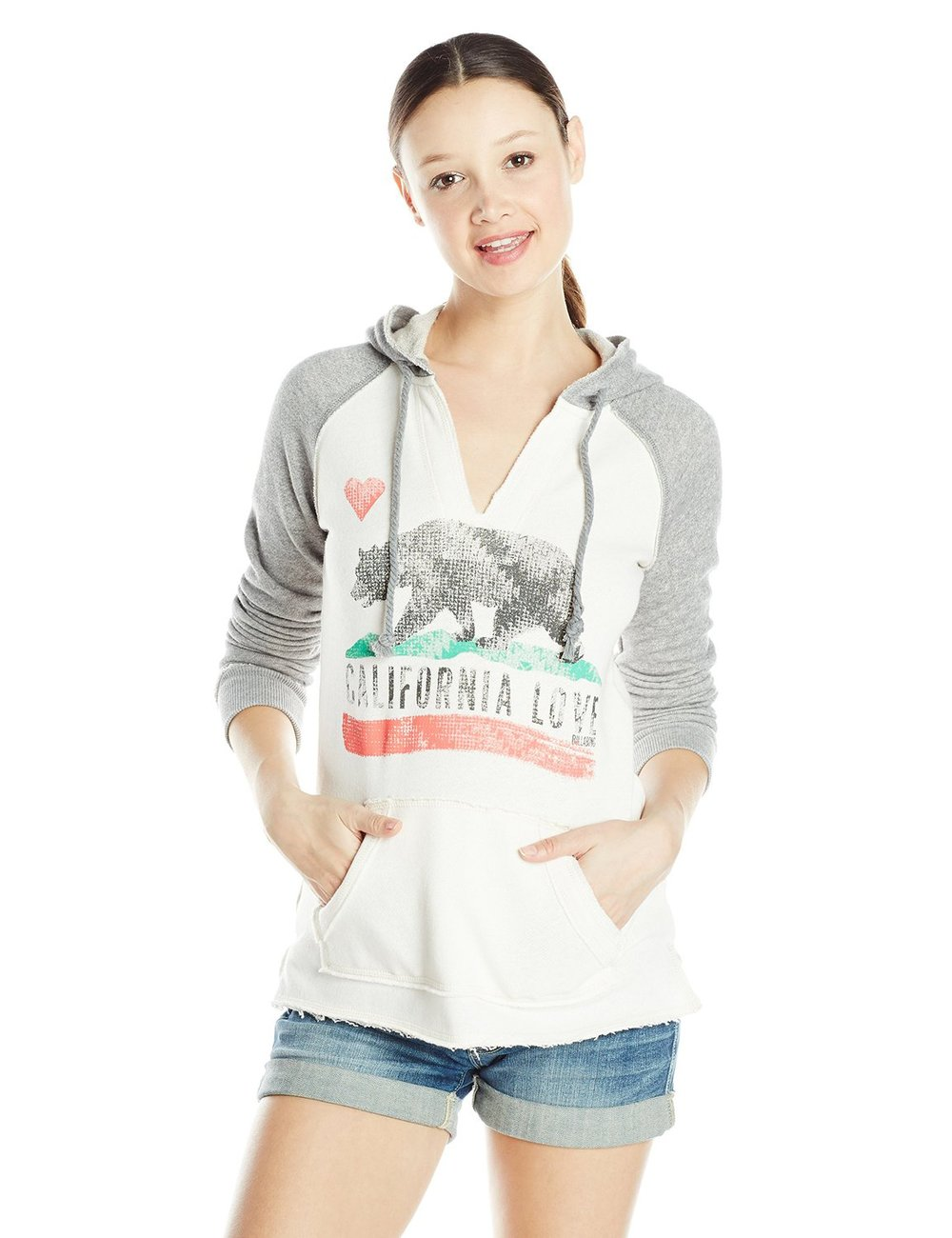 Gray and cream hoodie by Billabong available on Amazon for $30-50
