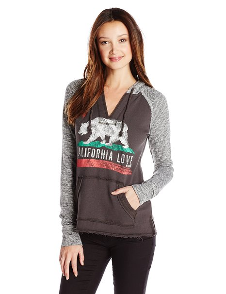 Charcoal California hoodie by Billabong, on Amazon for $30-50