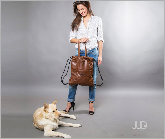 Comfy chic convertible leather tote by JUD, review on www.MarinaSays.com