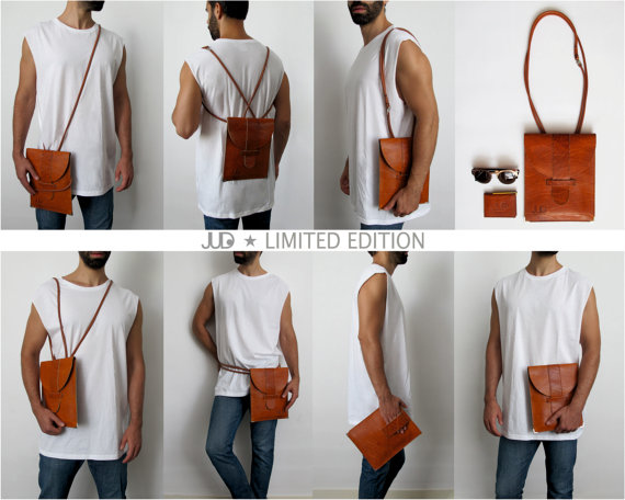 Sexy leather man purse by JUD on www.MarinaSays.com
