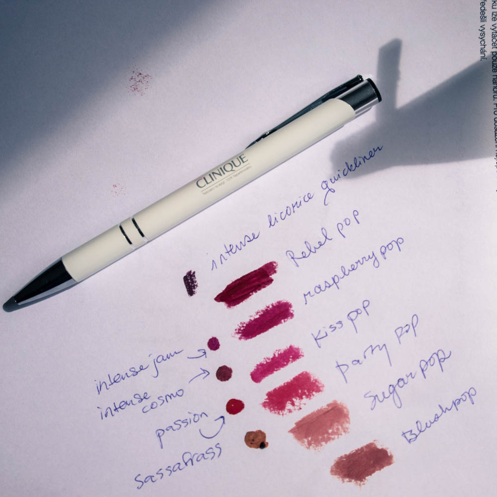 Swatches of Clinique's new lip color releases 2015