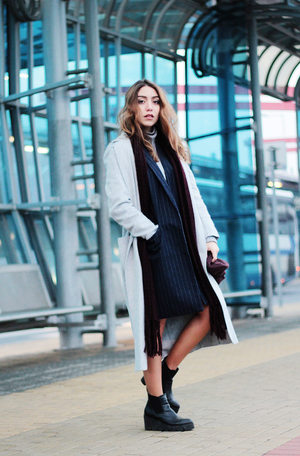 Life of An Ice Queen: About being a badass and dressing like one. Coat by Mango, Waistcoat by Pull&Bear... more at www.MARINASAYS.com