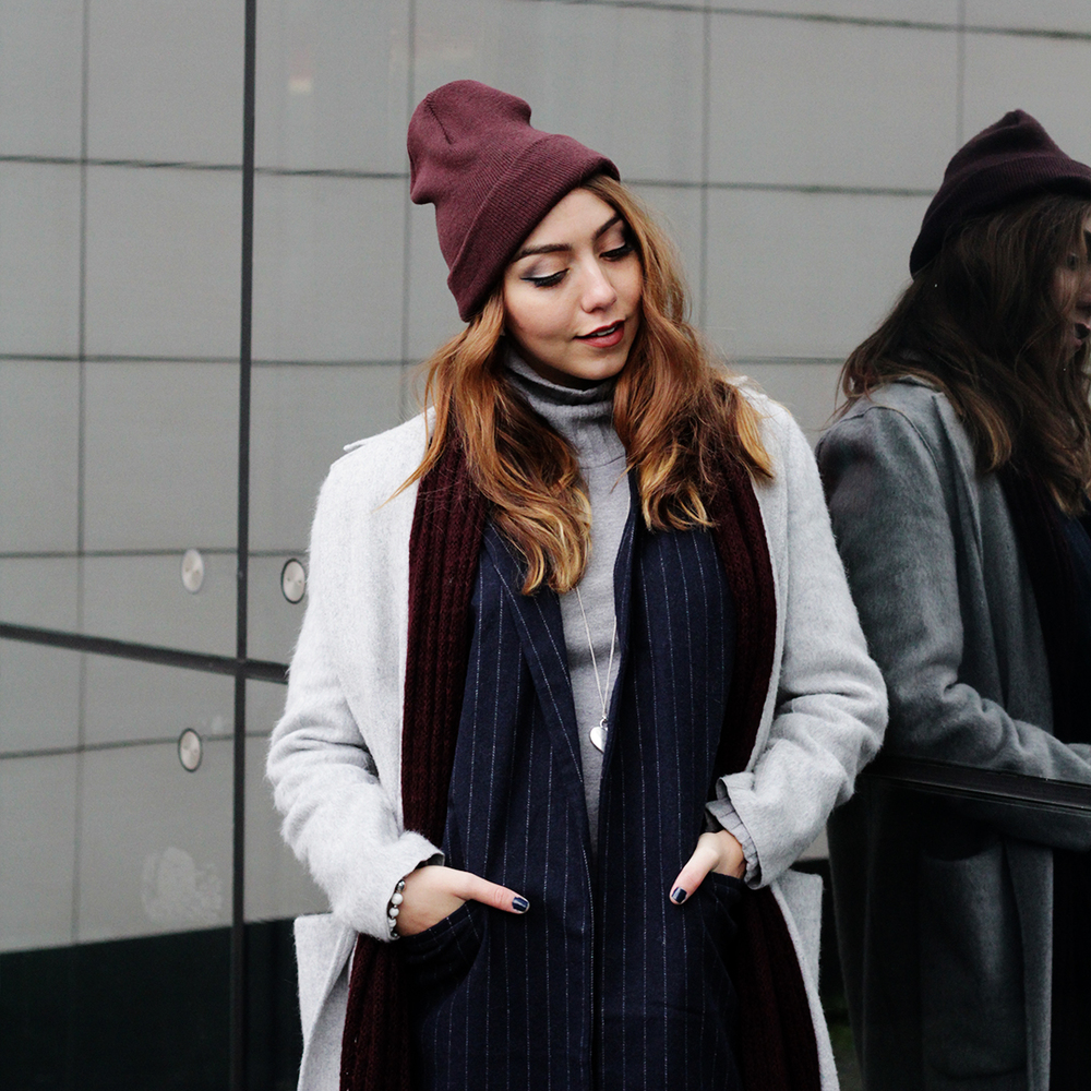 Cozy winter vibes with this fuzzy long coat by Mango... find more style stories at www.MARINASAYS.com