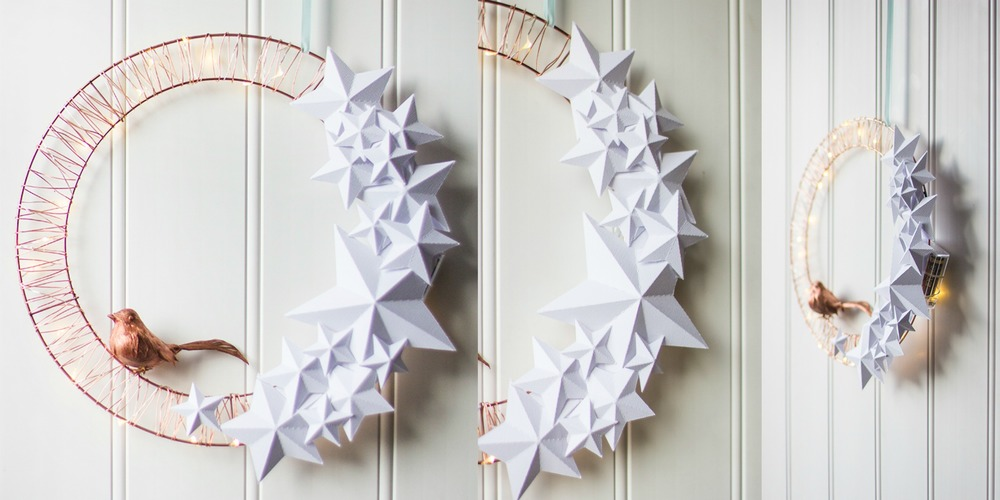 Trendy copper tone wreath and other hipster holiday DIY projects that look fancy but are 100% made by you! This and other stylish posts at www.MARINASAYS.com