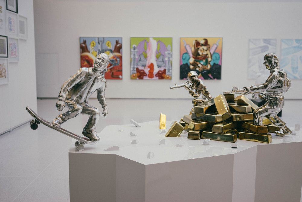 Politically charged contemporary arts by Pasta Oner at Prague's Galerie Manes. Find more at www.MarinaSays.com
