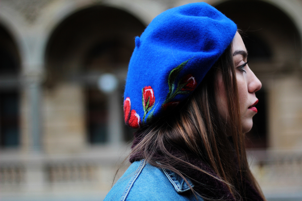 Folk-inspired beret and other style essentials at www.MarinaSays.com