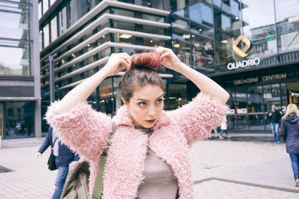 Pink hair & pastel pink fluffy jacket that makes me feel like a cute teddy bear! More style inspiration at  www.MARINASAYS.com (@marinasays)