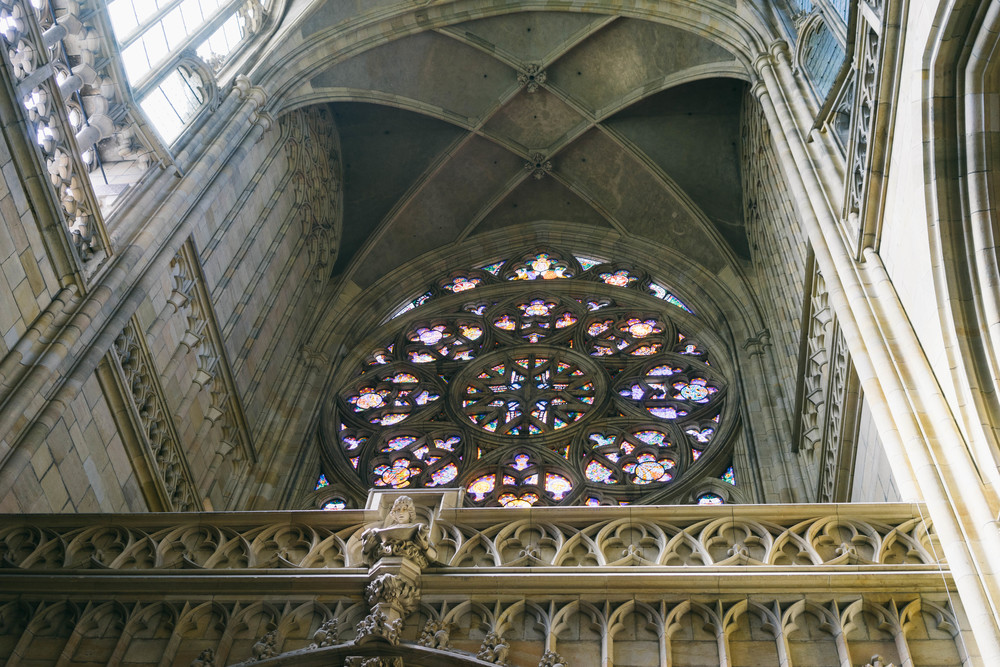 View from inside the Saint Vitus Cathedral. Find out why this fashion blogger loves Prague - and why you'll fall in love with it too! At www.MARINASAYS.com