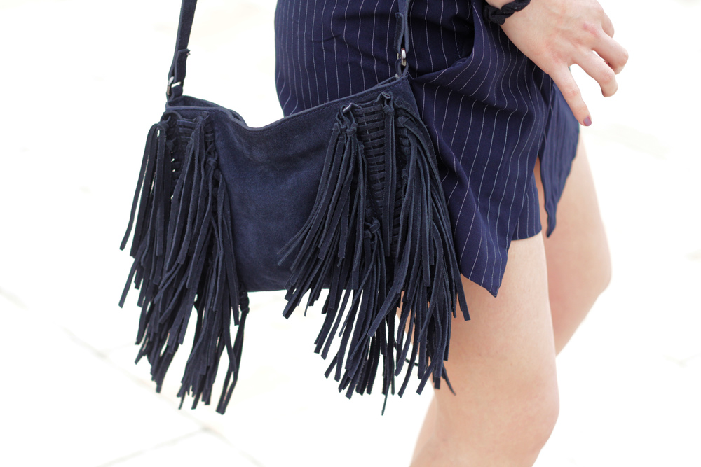 Suede fringe bag from Mango on MarinaSays.com