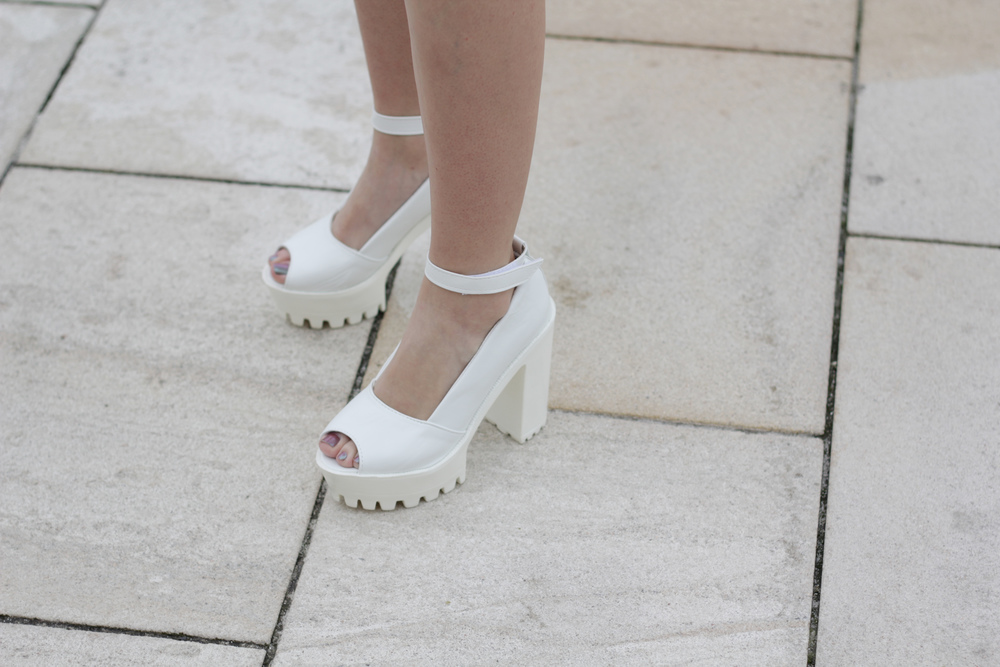 White heels and more fashion at www.MARINASAYS.com