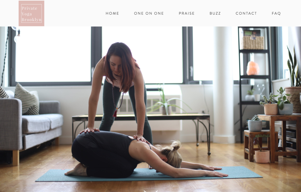 Private Yoga brooklyn - Emily Sussell is a private yoga instructor who created Private Yoga Brooklyn. She wanted a site that spoke to the ethos of PYB and we created this beautiful sleek website!- Take a look!