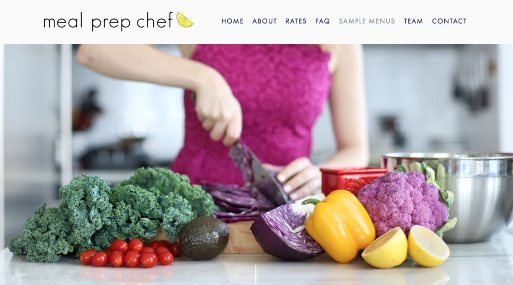 meal prep chef - I worked with the founder of Meal Prep Chef to create this incredible website- This project was very special for me and showcases some of my best work! I worked with Alyssa on concept curation, photography and the design and build of this site with the main focus of our storytelling being quality food with a side of positive personality!