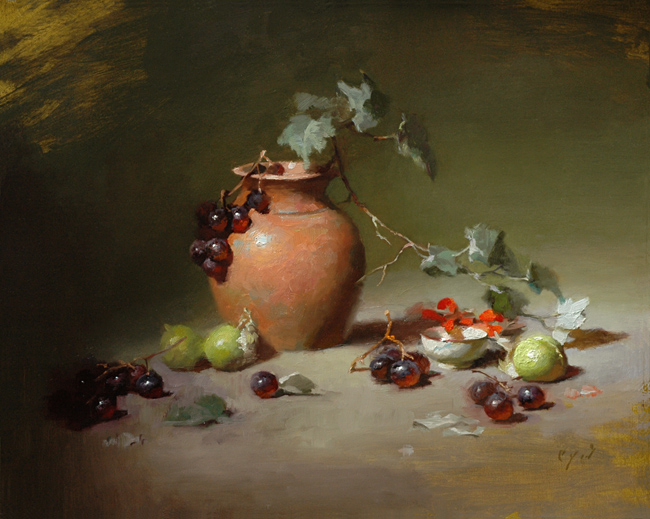 Tomatillos and Terracotta    16 x 20    oil on panel