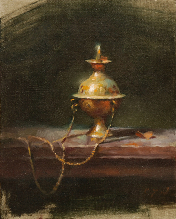 Incense Burner    10 x 8    oil on linen