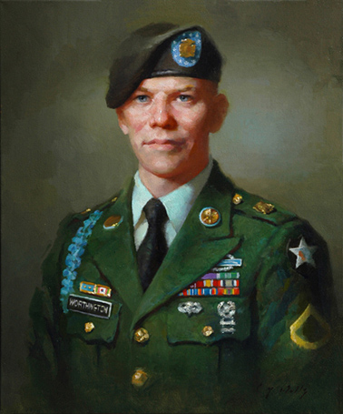 PFC Robert Adrian Worthington 24 x 20    oil on canvas