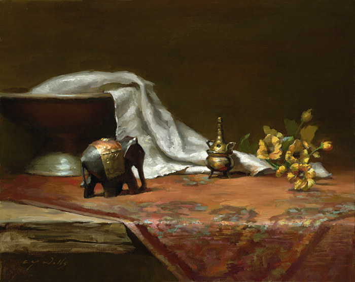 Gold Elephant    16 x 20    oil on canvas