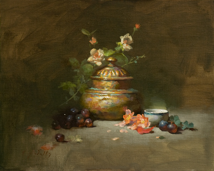 The Bronze Urn   16 x 20   oil