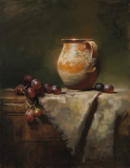 Jug with Broken Handle   18 x 14   oil