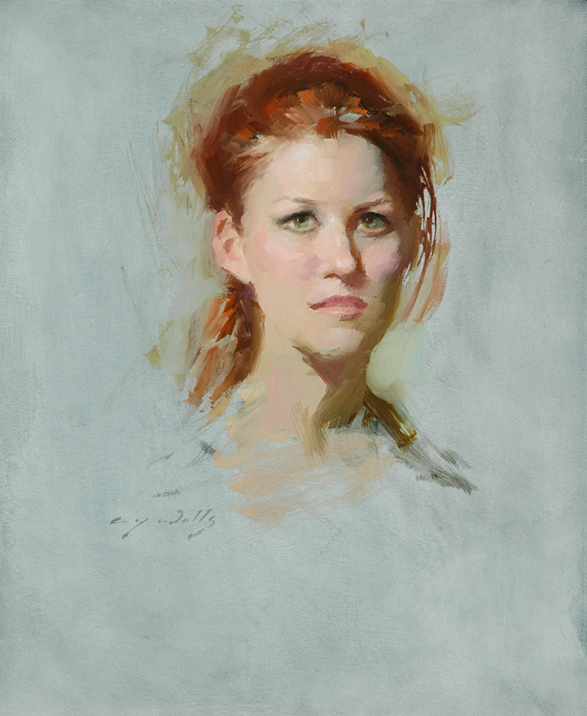 Holly - the First Sitting   20 x 16   oil on panel