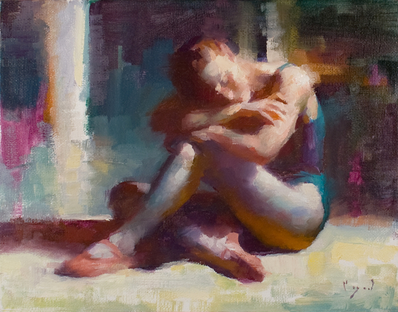 A Moment's Rest  7 x 9  oil