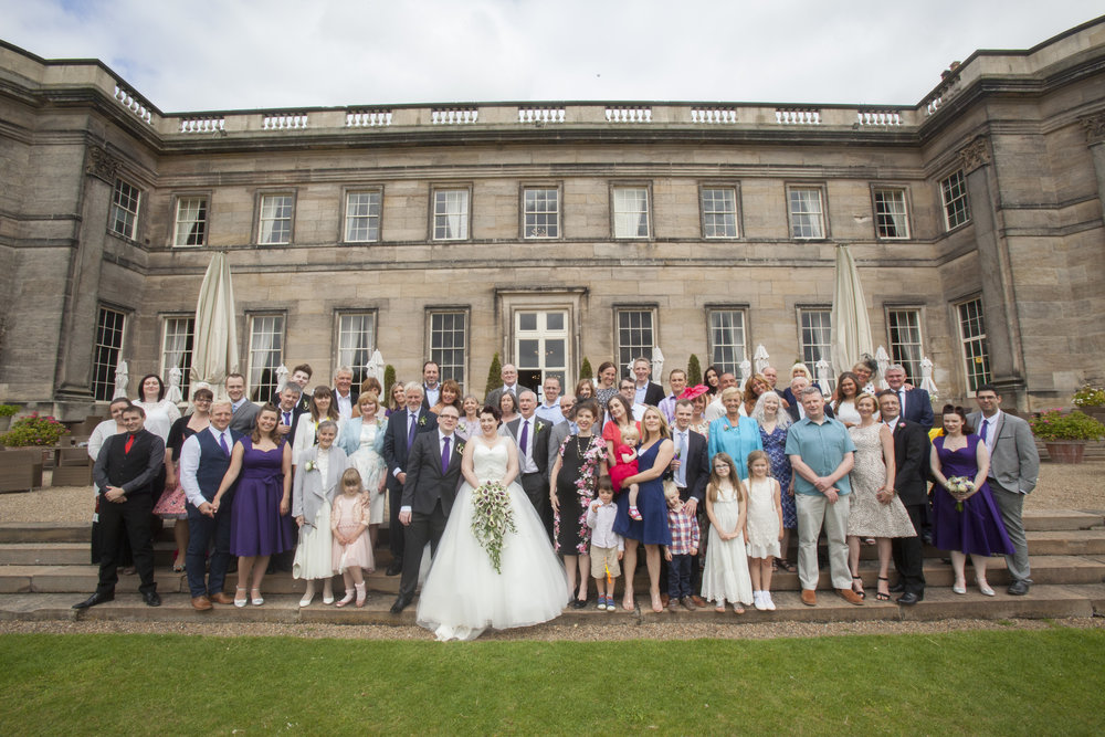 Wedding Group Photo Wynyard Hall