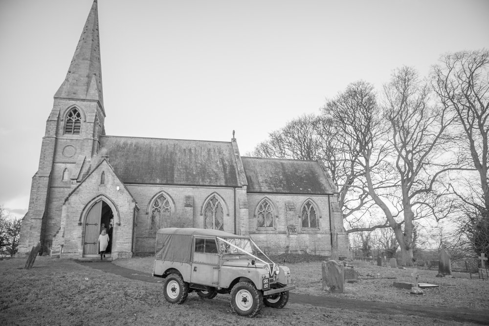 rural church wedding