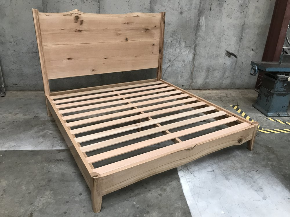 The Jack Ellis Company - Custom Live Edge White Oak Bed