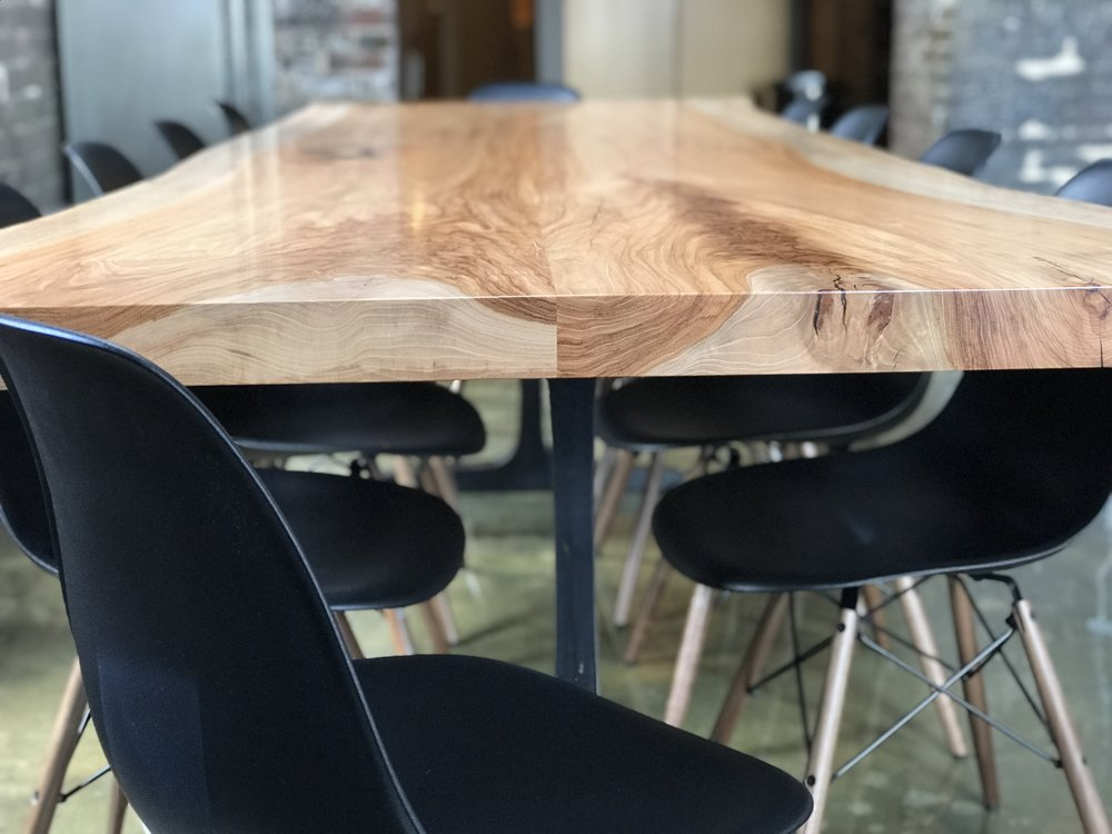The Jack Ellis Company - Custom Pecan Live Edge Table