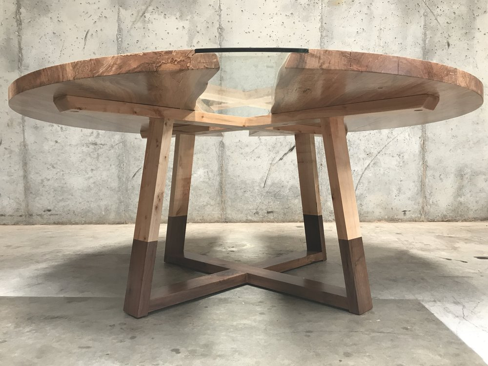 The Jack Ellis Company - Custom Live Edge Ambrosia Maple Round Table