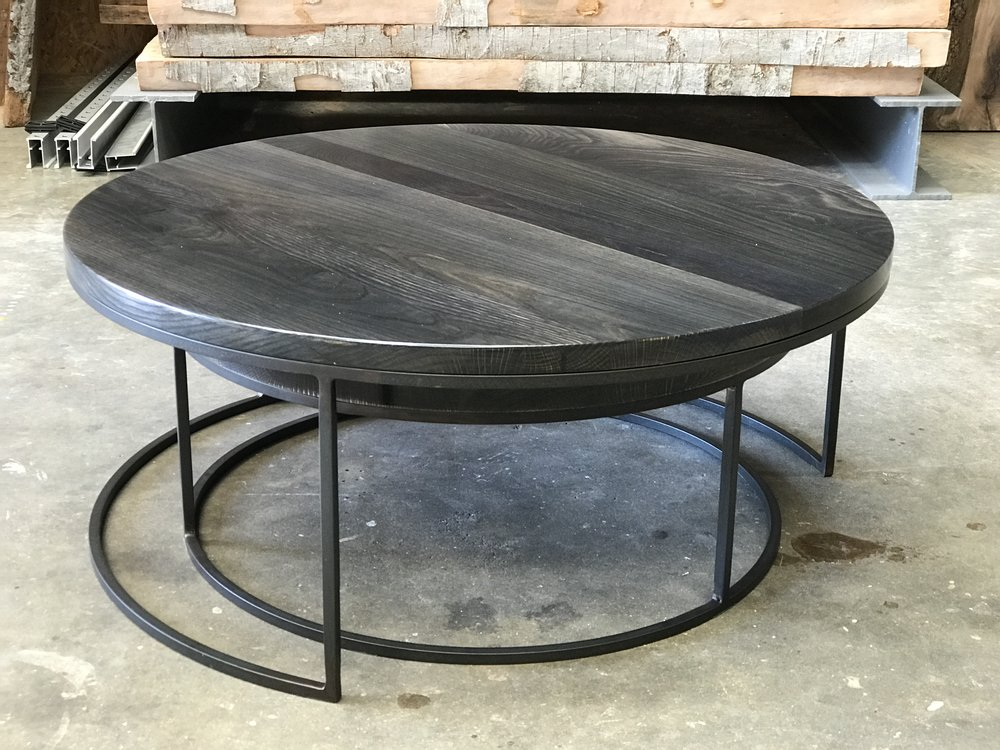 The Jack Ellis Company - White oak nesting coffee table