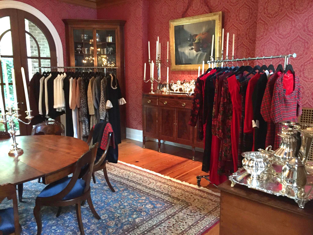 "Clothes from ""The Briar & the Rose"" our Fall Collection 2015, on display."