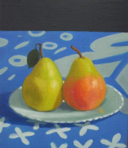 2 Pears on Plate (431x500).jpg