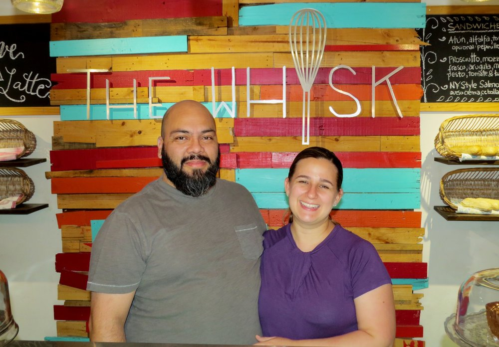 David Gómez y Cali Roberts, propietarios de The Whisk.