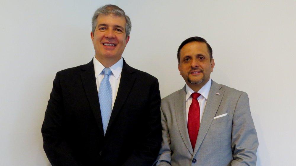 Eduardo Ordóñez, vocero de VICAL y Rafael Soto, representante de gerencia del ICT.