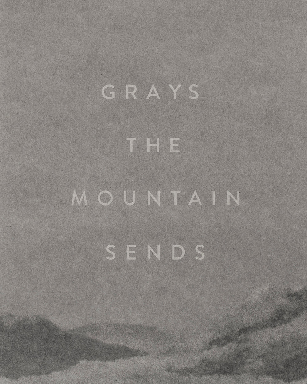 Inspired by the poetry of Richard Hugo,  Grays the Mountain Sends  combines portraits, landscapes, and still lifes in a series of photos about the lives of working people residing in small mountain towns and mining communities in the American West.