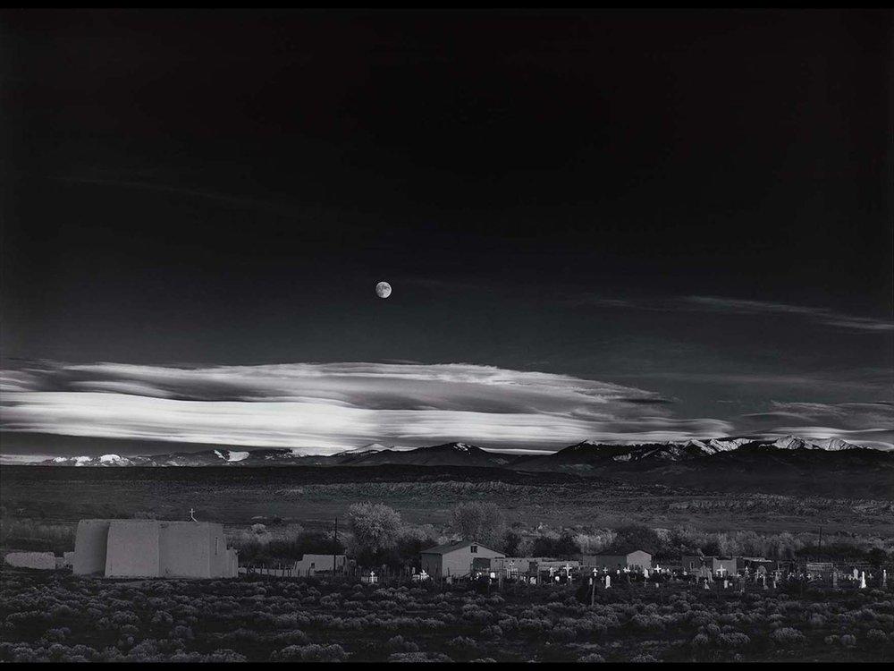 Ansel Adams, Moonrise, Hernandez, New Mexico, 1941