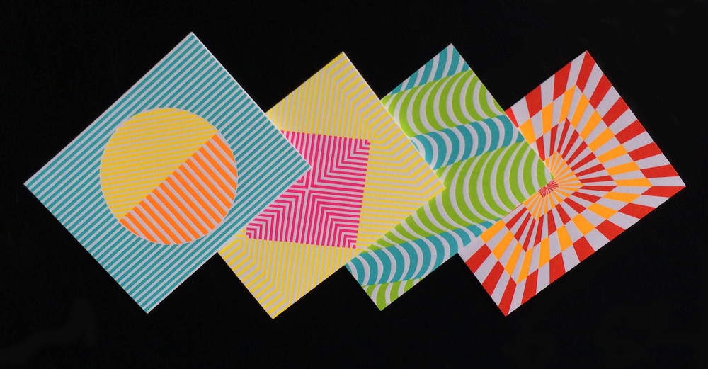 Op Art Series- with Fluorescent Ink!