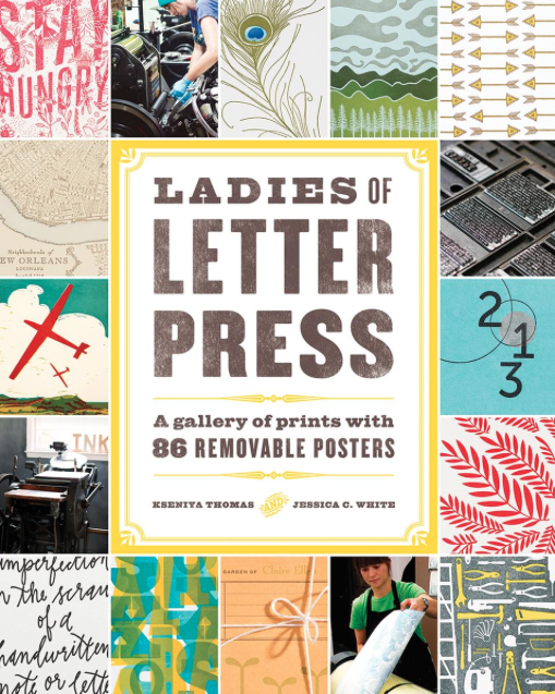 Cover of American edition of new Ladies of Letterpress Book