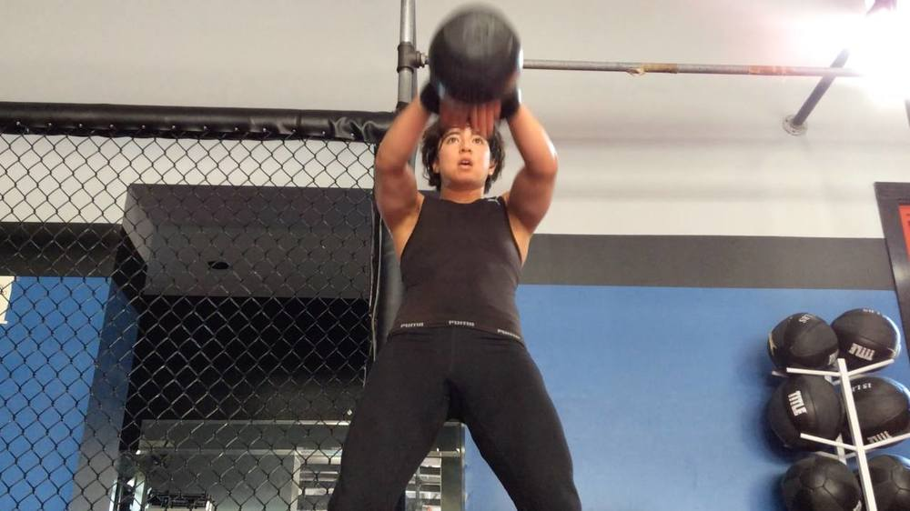 Mel training hard? I don't believe it.