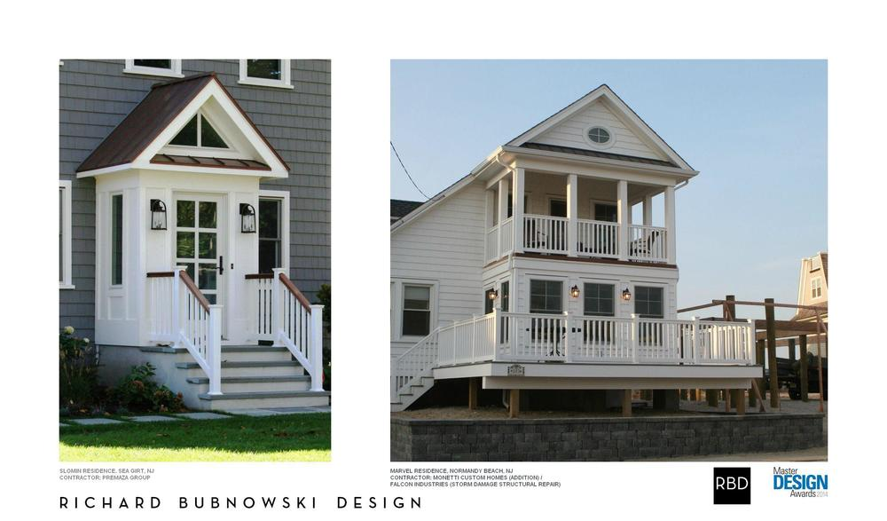 "Sometimes great things really do come in small packages... Two recently completed RBD projects along the New Jersey coastline received national honors in the 2014 Qualified Remodeler Master Design Awards. The Marvel Residence in Normandy beach (right) received a Gold Award in the category of ""Room Additions Under $250,000, while The Slomin Residence in Sea Girt (left) received a Silver Award in the ""Exterior Facelift"" category. All winning projects can be seen in the October 2014 issue of Qualified Remodeler in print or online at www.forresidentialpros.com"