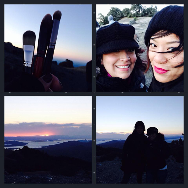 On-location photoshoot production on Mt. Tam, working with friend Lena Chavez.