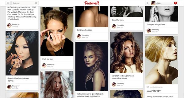Julie's Pinterest profile.