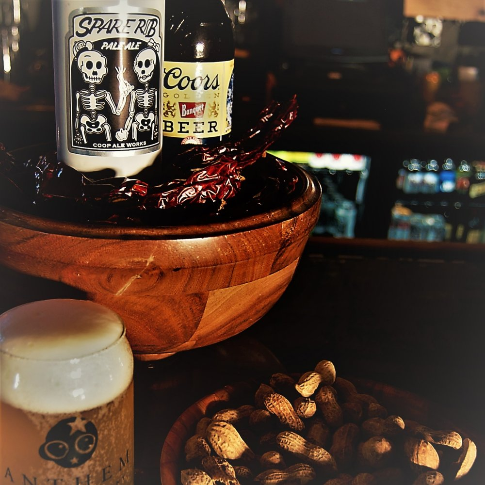 Power Hour - Join us for Power Hour Monday through Friday from 4 - 7pm. Fill up on $2.50 Coop Spare Rib, $1.50 Coors Banquet, and our $3 rotating tap. We also offer our Spicy New Mexican Peanuts for $2.25.