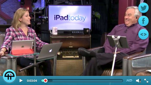 iPAD TODAY uses  FLOTE ipad tablet stands on their TV show