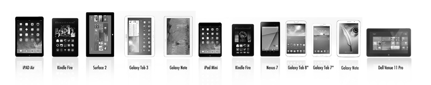 FLOTE is compatible with virtually every tablet.