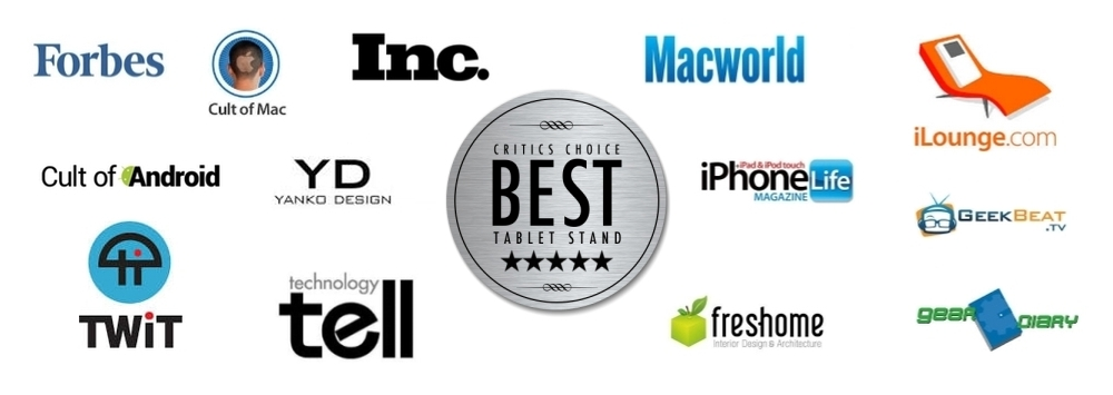 FLOTE ipad tablet stand named best by the press