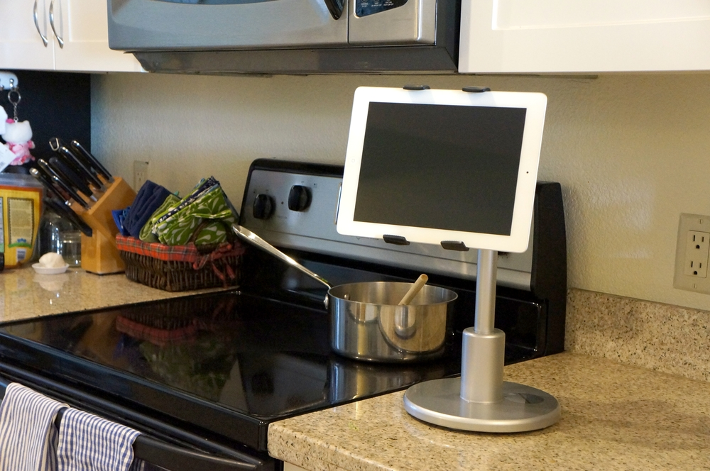 Kitchen stand for iPad tablets